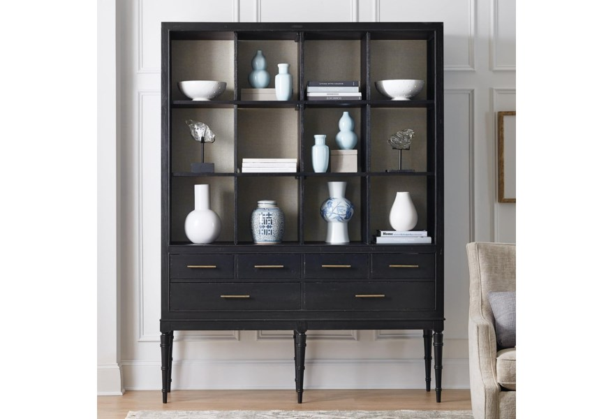 Living Room Accents Transitional 12-Shelf Tall Bookcase by Hooker Furniture  at Dunk & Bright Furniture