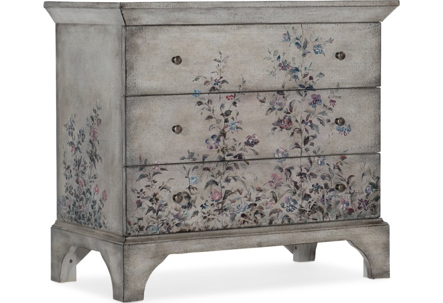 Living Room Accents Transitional 3-Drawer Accent Chest by Hooker Furniture  at Dunk & Bright Furniture