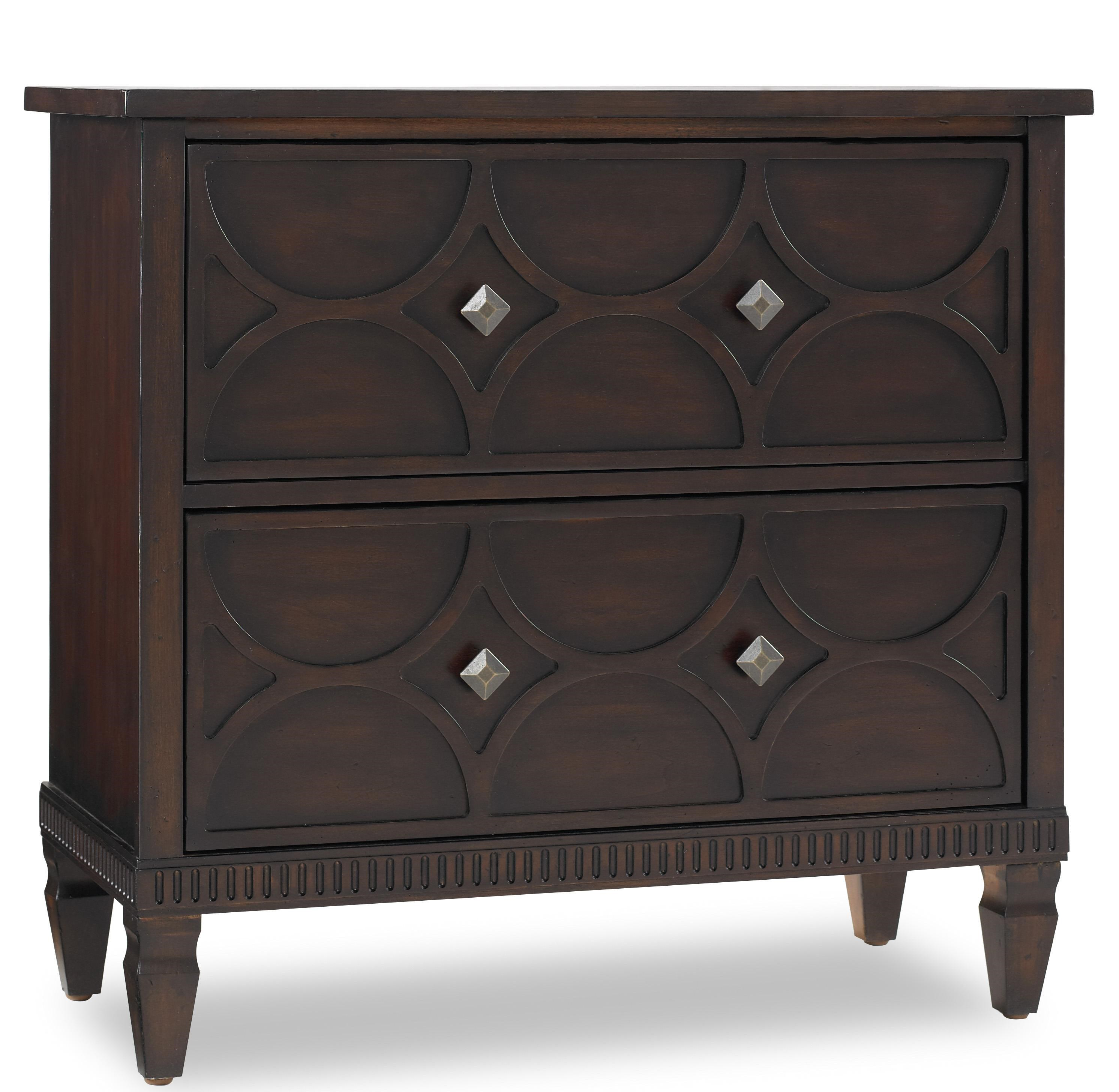 Hamilton Home Living Room Accents Two Drawer Accent Chest With Raised  Pattern Drawer Fronts Part 39