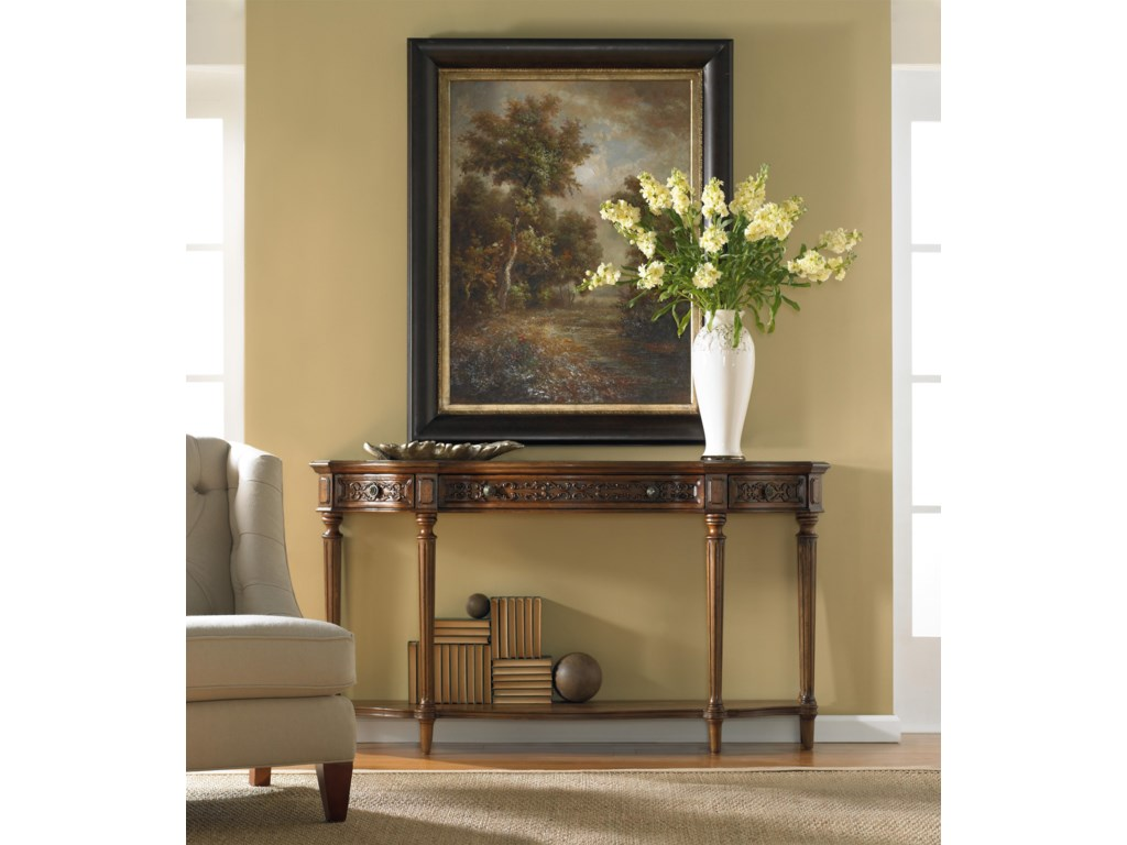Hooker Furniture Living Room AccentsThree Drawer Thin Console