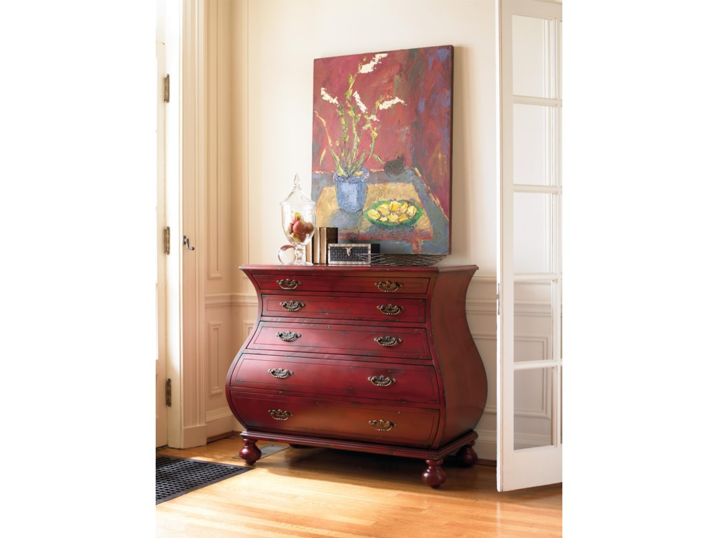 Hooker Furniture Living Room AccentsRed Bombe Chest