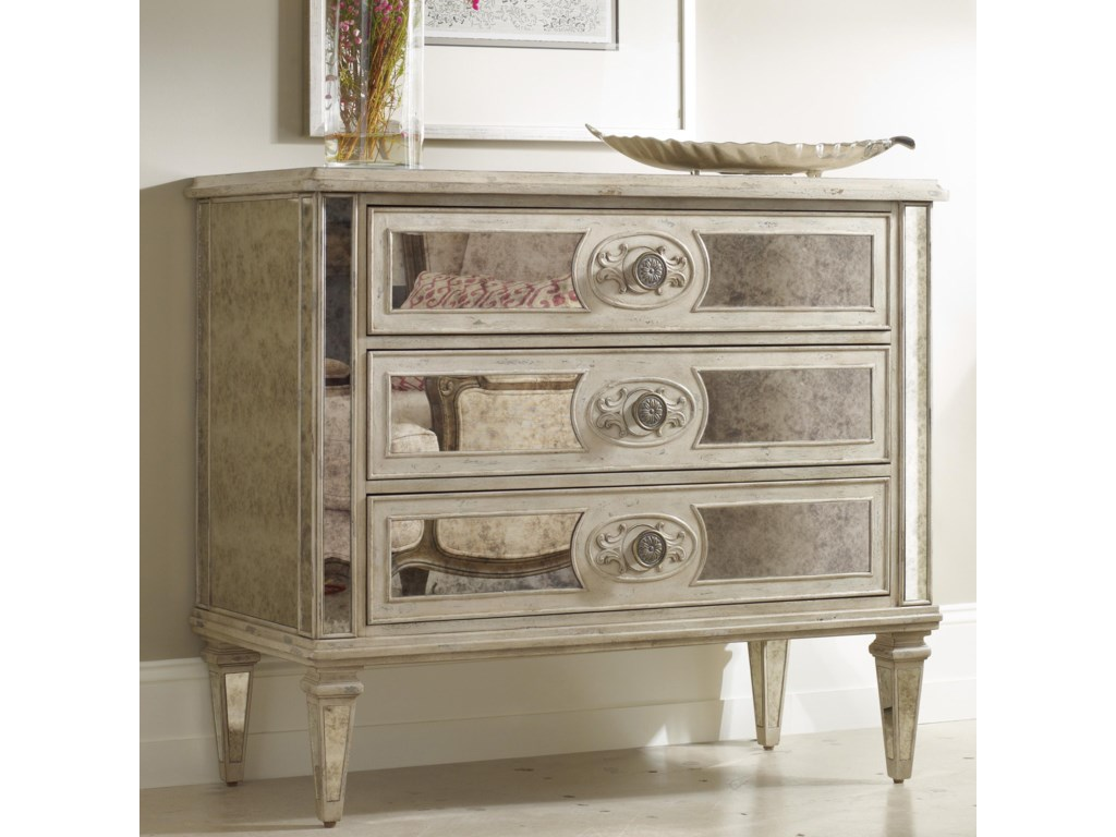 Hooker Furniture Living Room Accents3-Drawer Antique Mirrored Chest