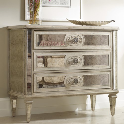 Hamilton Home Living Room Accents  Drawer Antique Mirrored Chest