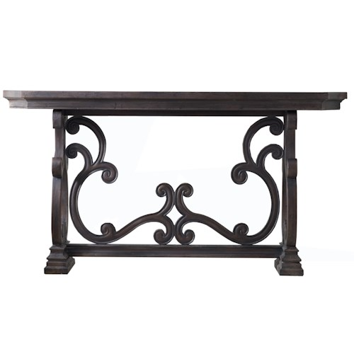 Hamilton Home Living Room Accents Da Valle Scroll Console Table