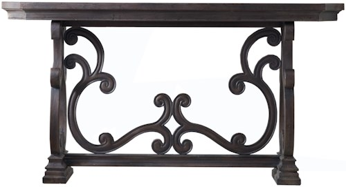 Hooker Furniture Living Room Accents Da Valle Scroll Console Table