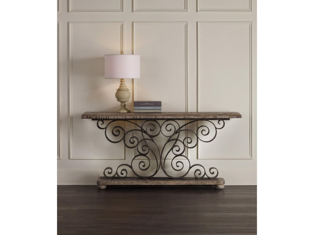 Hooker Furniture Living Room AccentsMetal Scroll Console