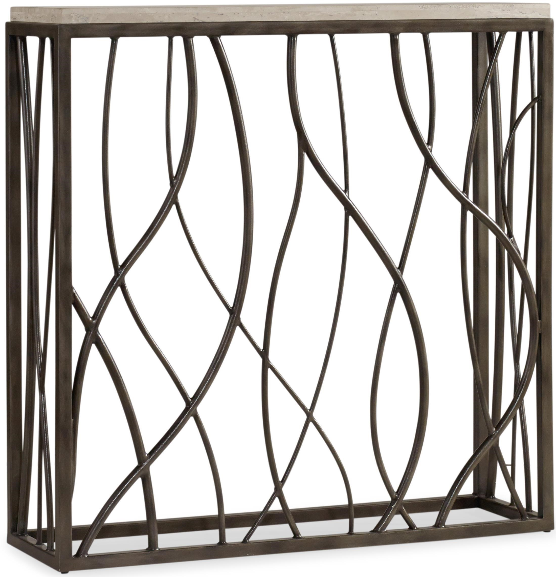 Hooker Furniture Living Room AccentsThin Metal Console ...