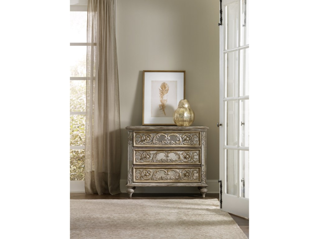 Hooker Furniture Living Room AccentsOrnate Mirrored Chest