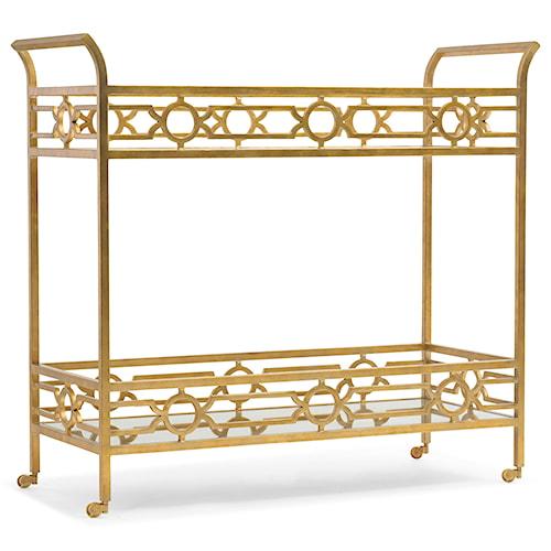 Hooker Furniture Living Room Accents Gold Living Room Serving Cart