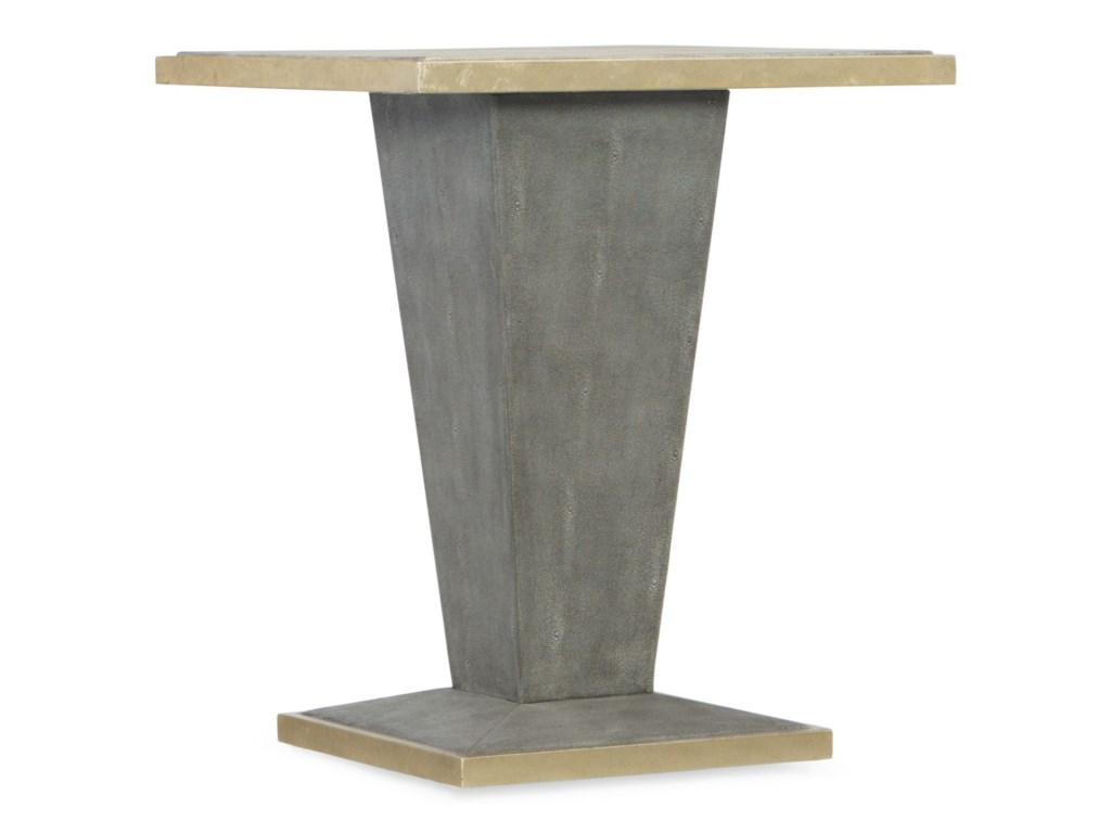 Hooker Furniture Living Room AccentsSquare Shagreen End Table