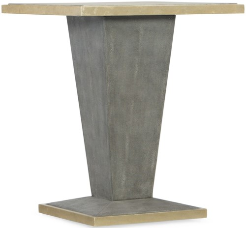 Hooker Furniture Living Room Accents Square Shagreen End Table