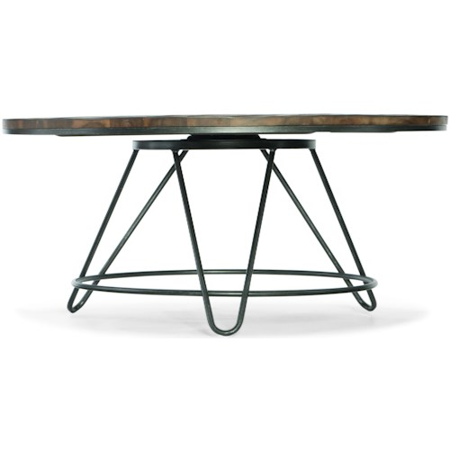 Hooker Furniture Living Room Accents Round Cocktail Table with Spinning Top