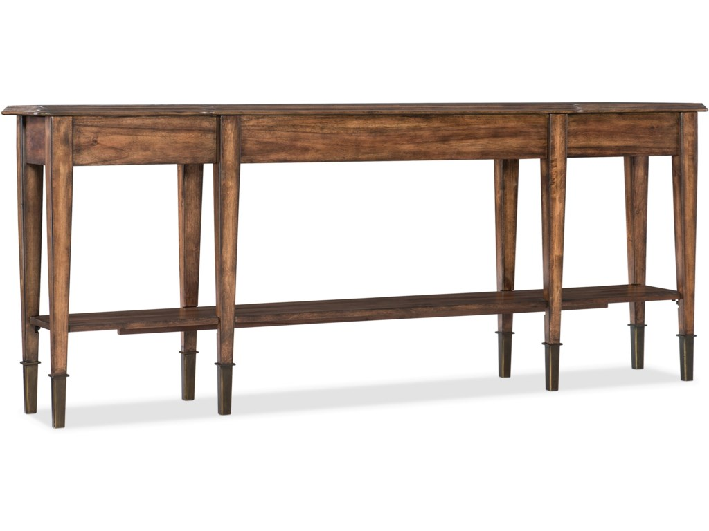 Living Room Accents Skinny Console Table with 2 Drawers by Hooker Furniture  at Dunk & Bright Furniture
