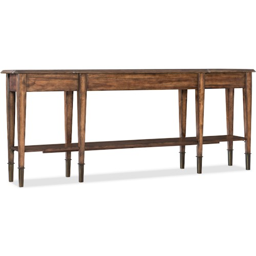 Hooker Furniture Living Room Accents Skinny Console Table with 2 Drawers