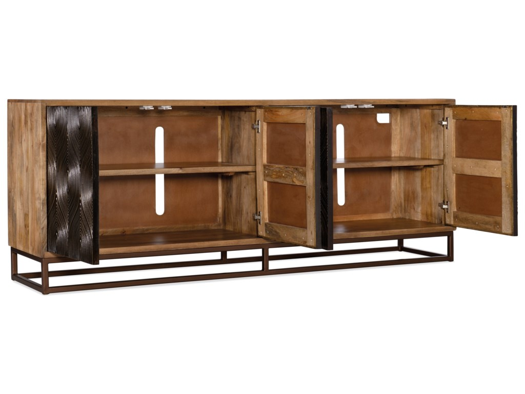 Hooker Furniture Living Room AccentsSwirl Door Entertainment Console