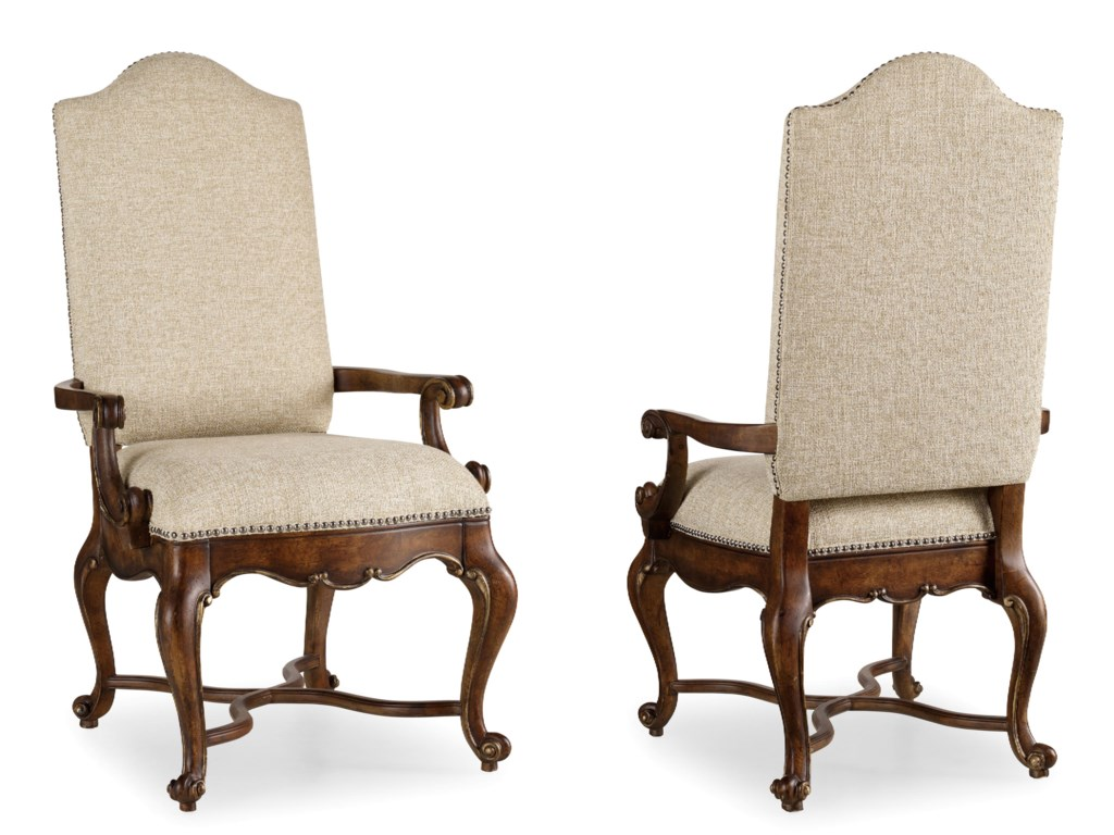 Set Includes Upholstered Back Arm Chairs