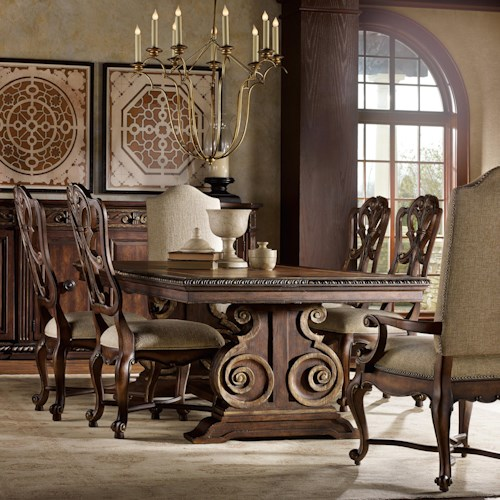 Hooker Furniture Adagio Dining set with Rectangle Table and 6 Chairs