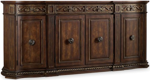 Hooker Furniture Adagio Credenza with 3 Drawers and 4 Doors