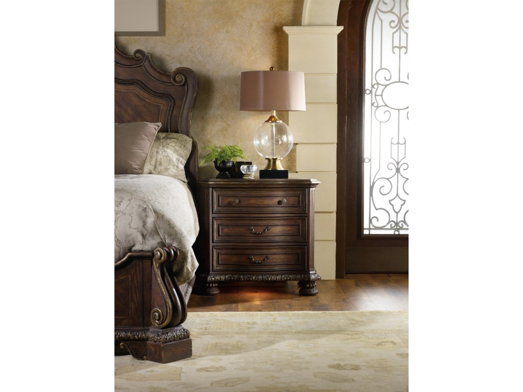 Hooker Furniture Adagio3 Drawer Nightstand
