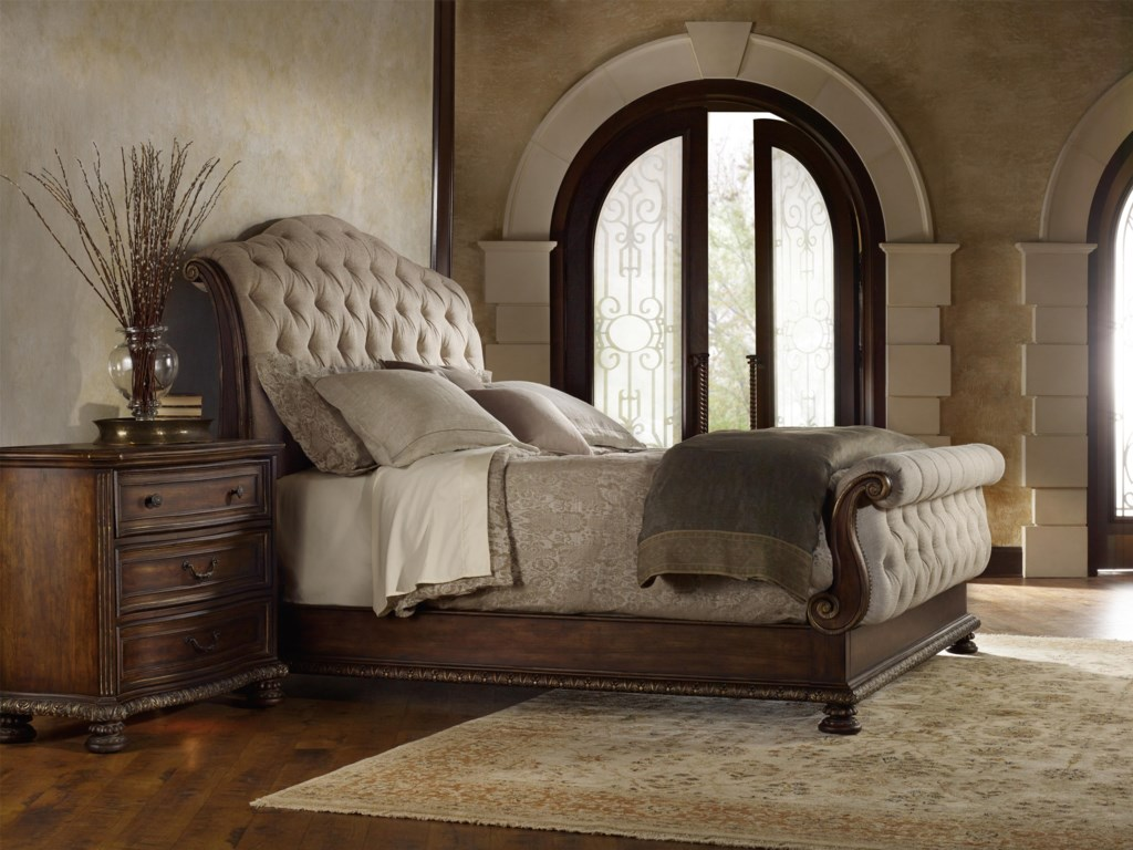 Hooker Furniture AdagioKing Tufted Sleigh Bed