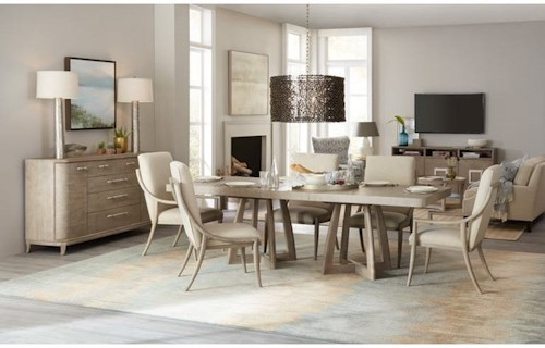 Hooker Furniture Affinity 7 Pc Dining Set with Removable Leaf