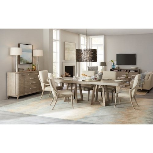 Hooker Furniture Affinity 7 Pc Dining Set with Removable Leaf