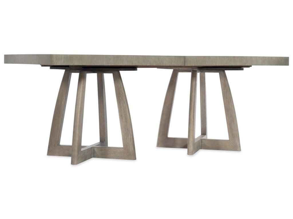 Hooker Furniture AffinityRectangle Pedestal Dining Table