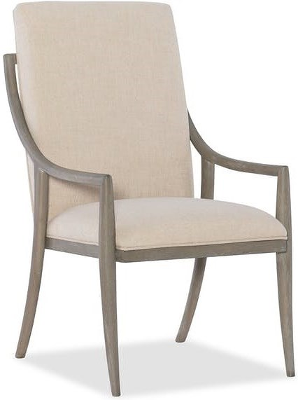 Hooker Furniture Affinity Transitional Host Chair with Upholstered Back and Seat