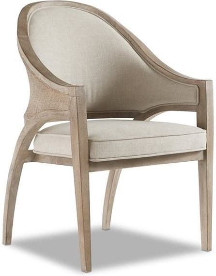 Hooker Furniture Affinity Transitional Sling Back Chair with Upholstered Back and Seat
