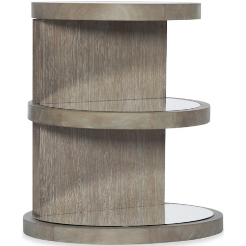 Hooker Furniture Affinity Transitional Round End Table with 3 Shelves