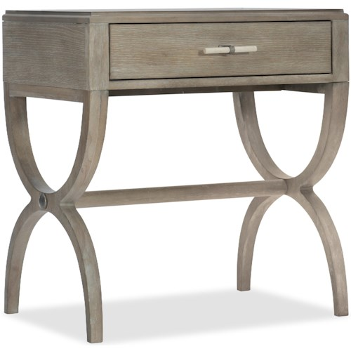 Hooker Furniture Affinity Transitional Nightstand with Trestle Base