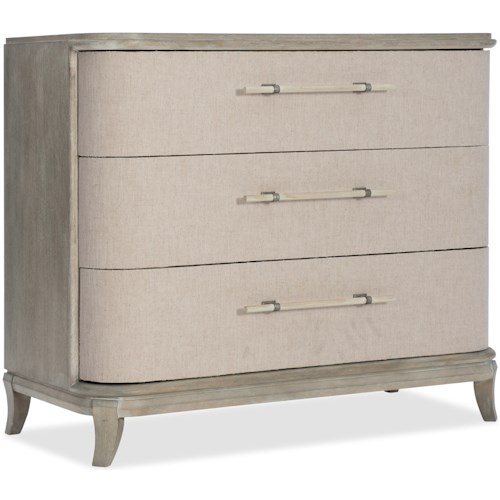 Hooker Furniture Affinity Transitional Bachelors Chest with Felt Lined Top Drawer