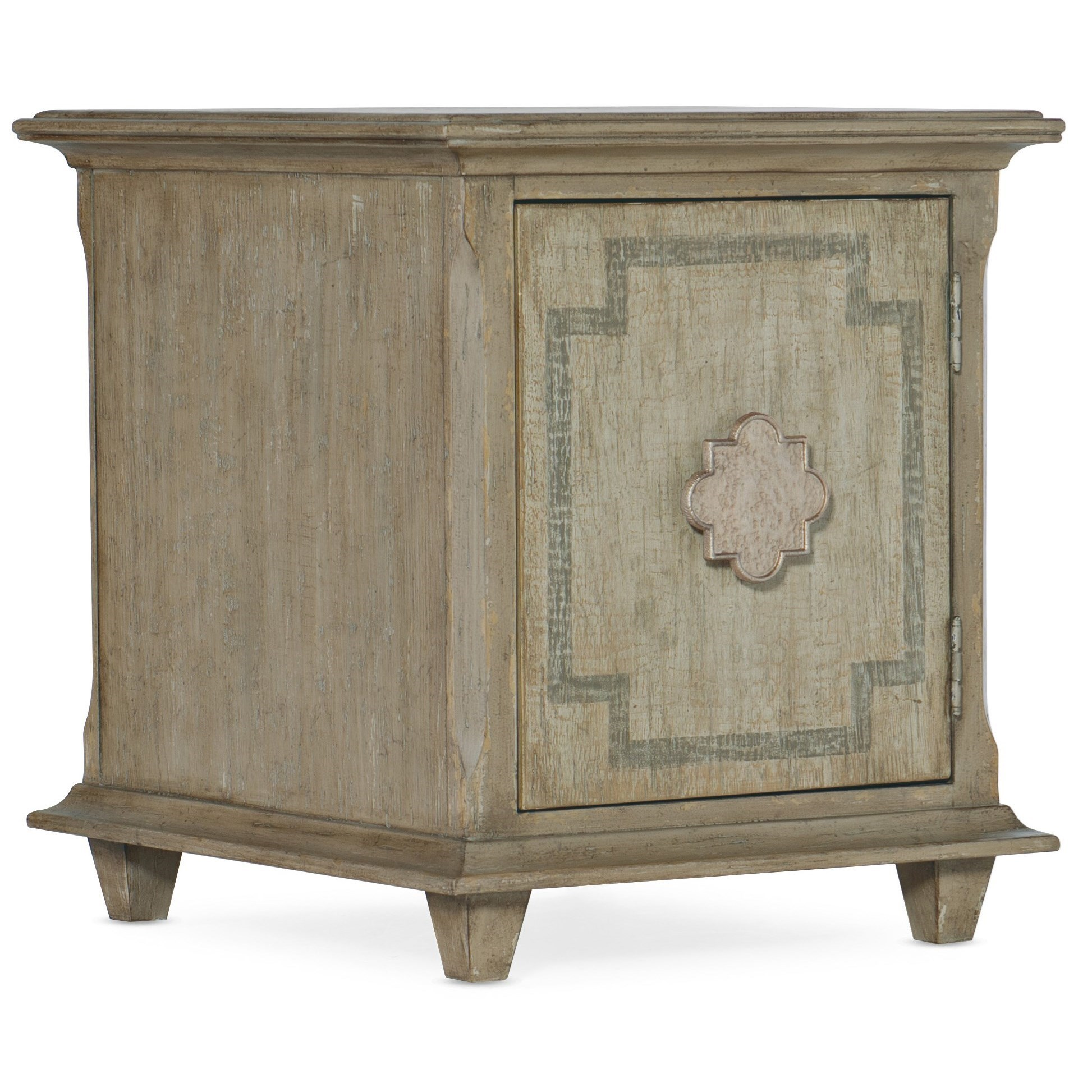 Transitional Poltrona 1-Door Chairside Chest