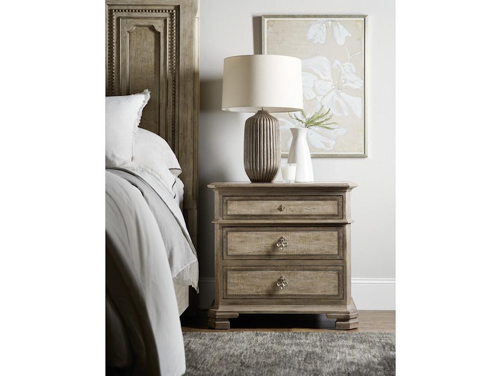 Hooker Furniture AlfrescoPalmieri Three-Drawer Nightstand