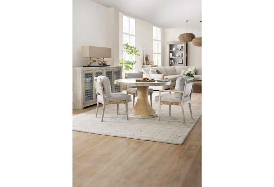 Hooker Furniture American Life Amani 48 Inch Round Pedestal Dining Table With Wood Top Belfort Furniture Dining Tables