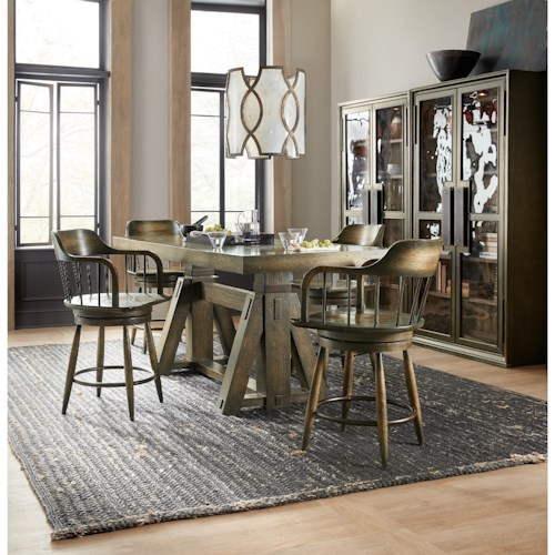 Hooker Furniture American Life-Crafted Formal Dining Room Group