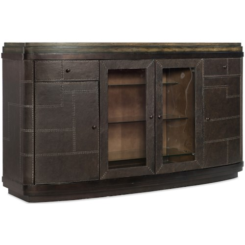 Hooker Furniture American Life-Crafted Rustic His and Her Bar with Wine Bottle Storage