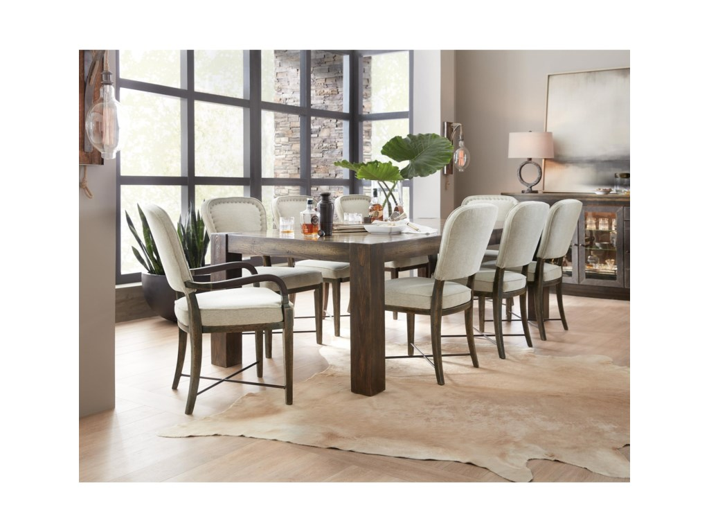 Hooker Furniture American Life-Crafted9 Piece Table and Chair Set