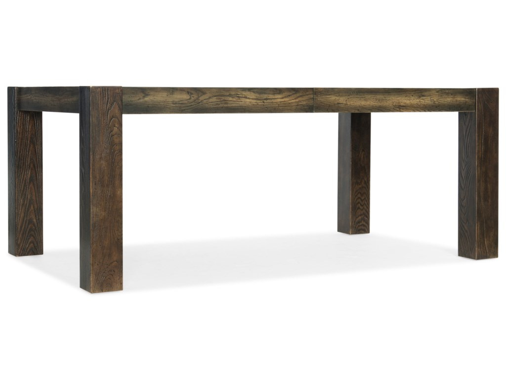Hooker Furniture American Life-CraftedRectangle Dining Table with Leaves
