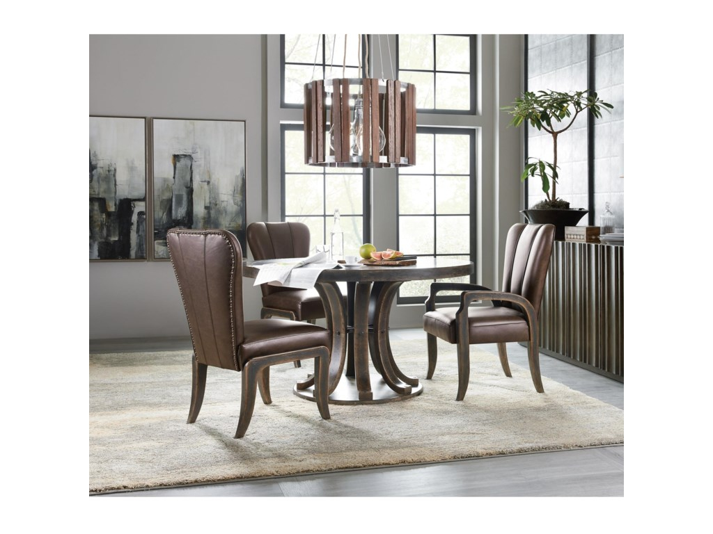 Hooker Furniture American Life-Crafted4 Piece Table and Chair Set