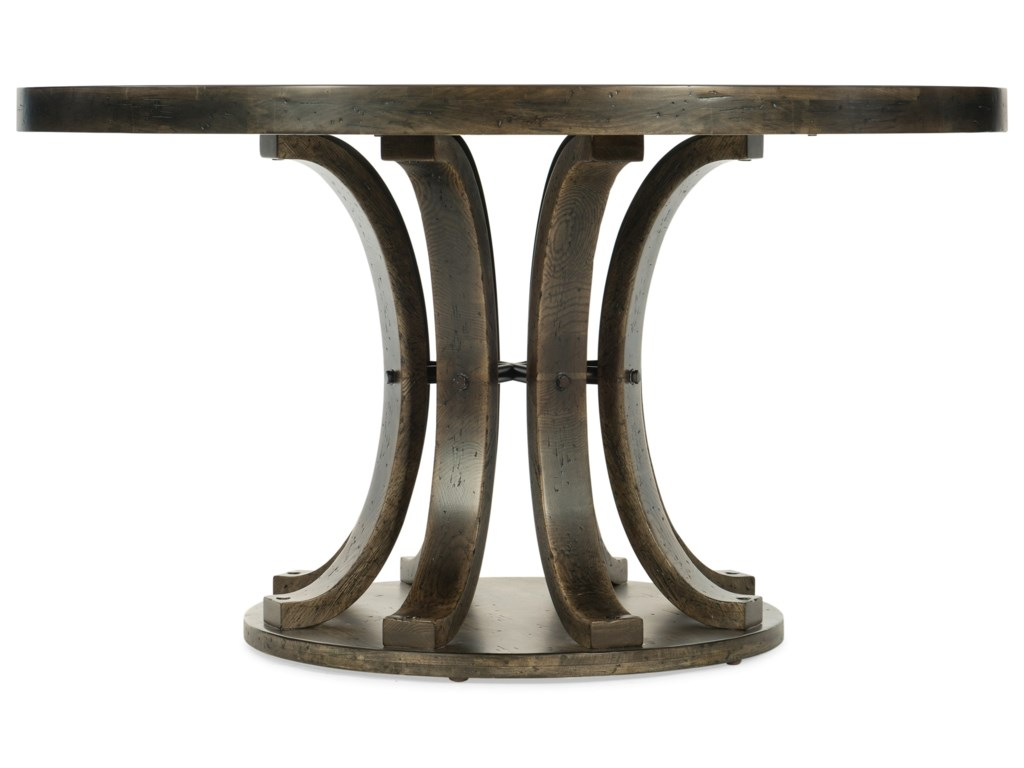 American Life Crafted 54in Round Pedestal Dining Table By Furniture At Dunk Bright