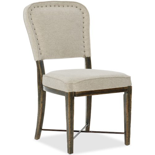 Hooker Furniture American Life-Crafted Upholstered Side Chair with Nailhead Trim