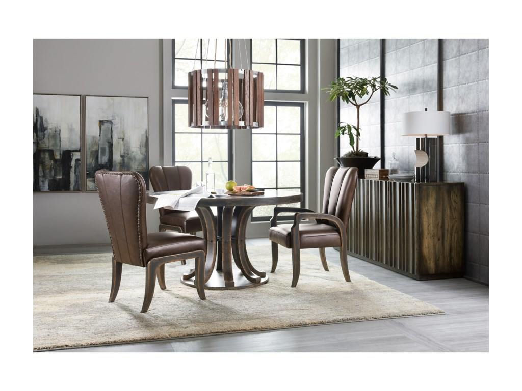 Hooker Furniture American Life-CraftedLeather Side Chair