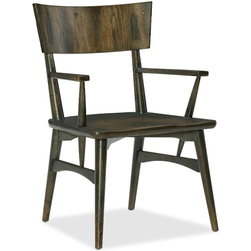 Hooker Furniture American Life-Crafted Rustic Casual Arm Chair