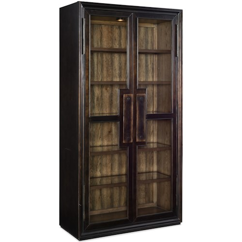 Hooker Furniture American Life-Crafted Glass Display Cabinet with Built-In Light
