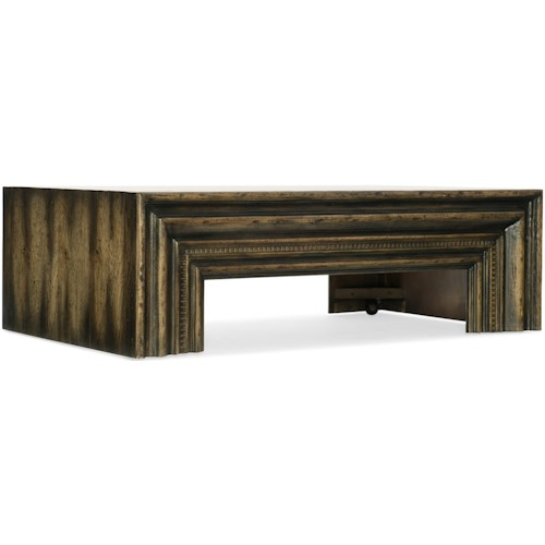 Hooker Furniture American Life-Crafted Rectangle Cocktail Table with Casters