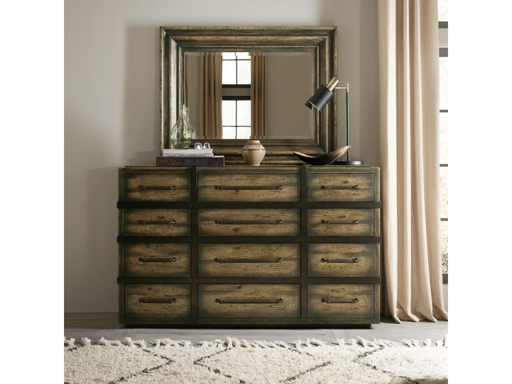 Hooker Furniture American Life-CraftedDresser and Mirror Set