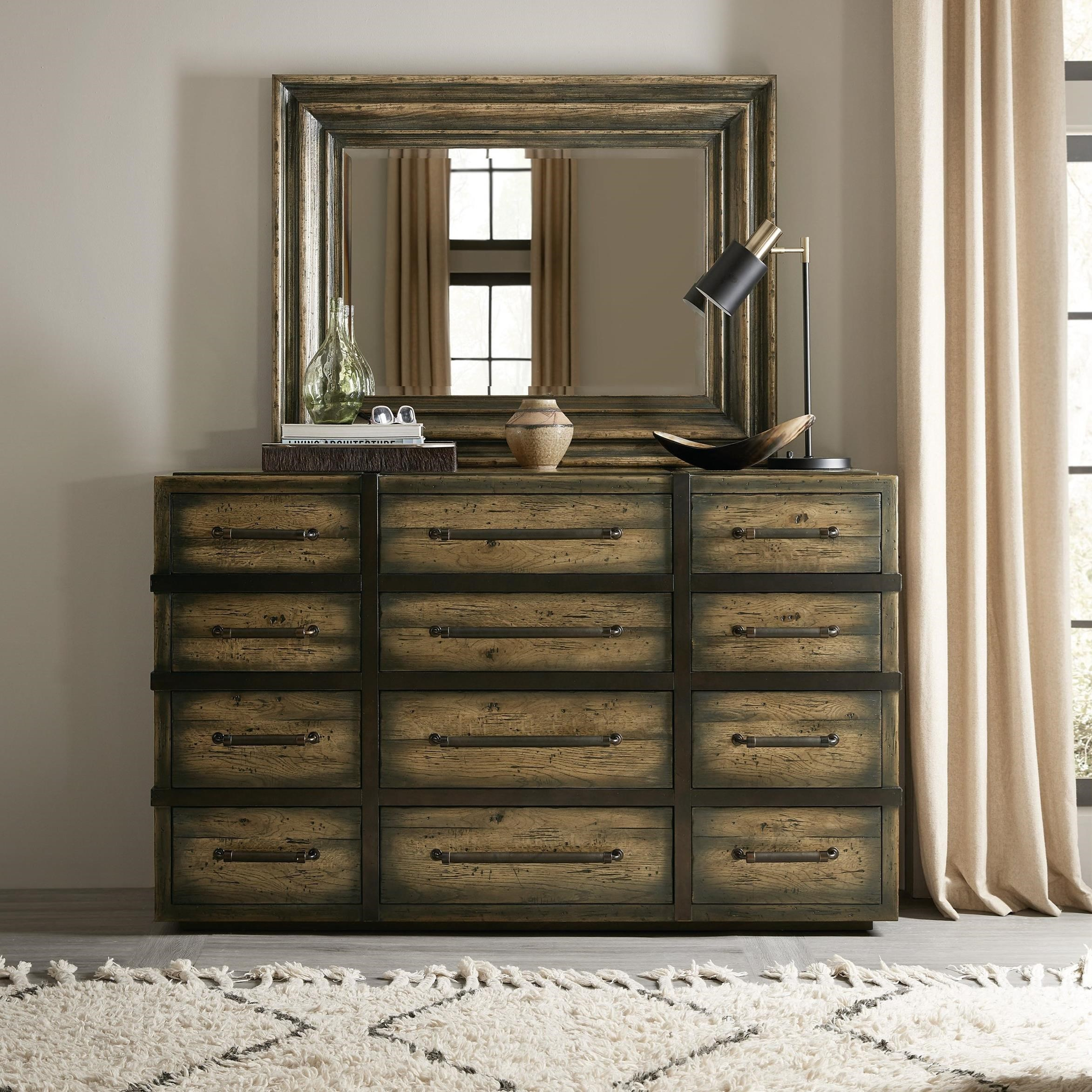 Hooker Furniture American Life Crafted Twelve Drawer Dresser And Mirror Set