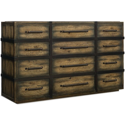Hooker Furniture American Life-Crafted Twelve-Drawer Dresser with Removable Jewelry Tray