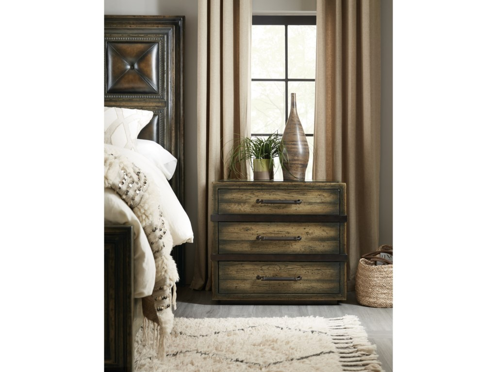 Hooker Furniture American Life-CraftedThree-Drawer Nightstand